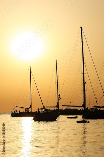 Foto-Leinwand - Sunset