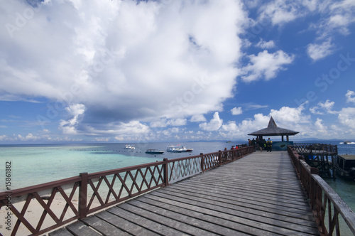 Tuinposter Canarische Eilanden Tropical sipadan island jetty