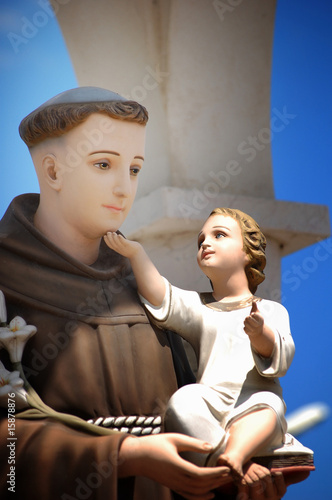 Statue Saint Anthony of Padua Lerretsbilde