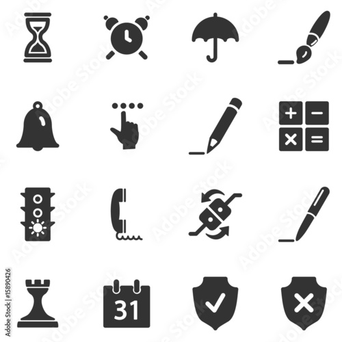 Software black web icons - Buy this stock vector and explore