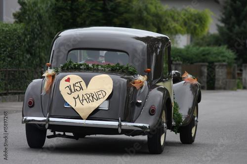 Vintage voitures Hochzeitsauto