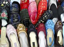Row Of Beaded Slippers