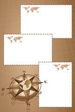 Scrapbook With Compass Rose An...