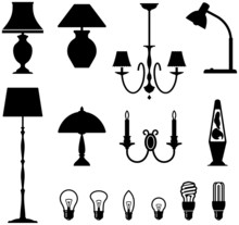 Electric Lamps, Chandeliers An...