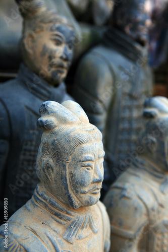 Foto op Plexiglas Xian replica of a terracotta warrior sculpture found in Xian, China