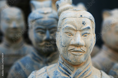 Tuinposter Xian replica of a terracotta warrior sculpture found in Xian, China