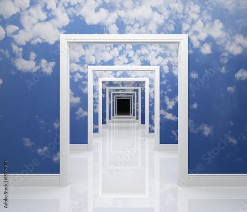 Fototapety do łazienki   droga-do-nieba