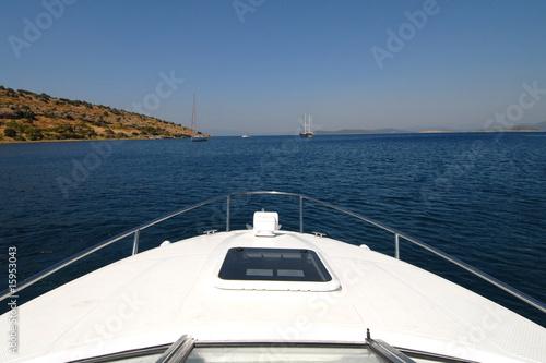 Valokuvatapetti boat deck