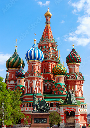 Tuinposter Moskou St.Basil's Cathedral on the Red Square in Moscow
