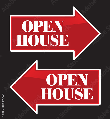 Open House Real Estate Arrow Sign