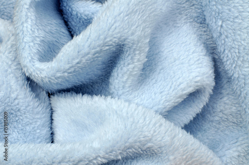 Soft Blue Baby Blanket Poster