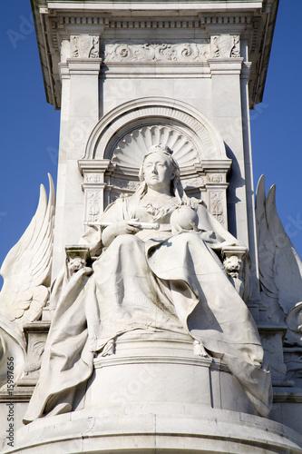 Stampa su Tela London - Victory memorial - detail of queen