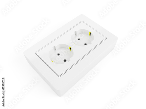 3d Render Of Isolated Double Outlet