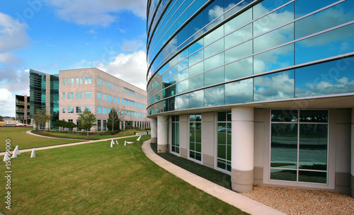 Glass Building with Blue Sky Reflecting