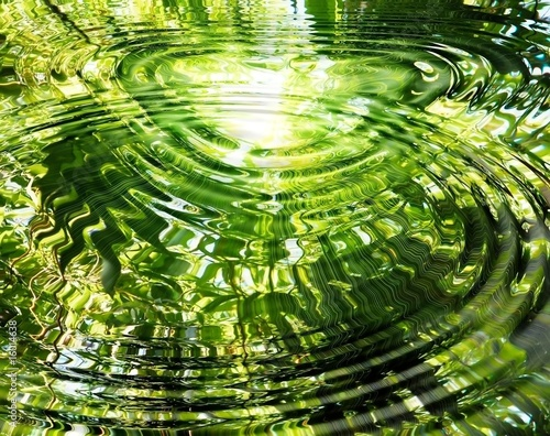 Recess Fitting Zen Ripples on water: reflection of bamboo forest