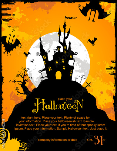 The halloween king photo page everystockphoto halloween party invitation or background with haunted house stopboris Choice Image