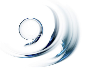 blue circle in speedy motion, rotating