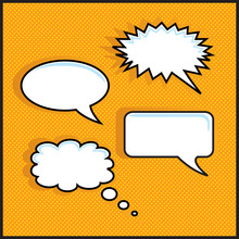 Orange Halftone With Speech Bubbles