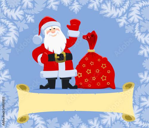 Papiers peints Chambre bébé Christmas greeting from Santa
