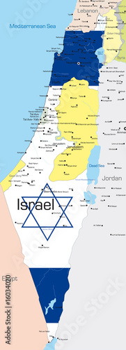 Photo Israel country colored by national flag