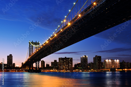 Foto-Kassettenrollo premium - Manhattan at sunset