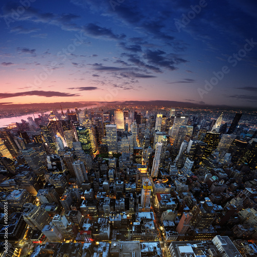 Foto op Aluminium New York Manhattan at sunset