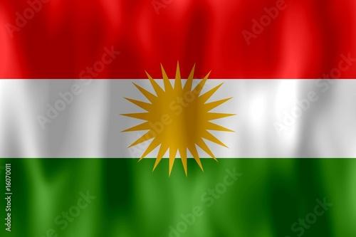 Fotografie, Obraz  drapeau kurdistan