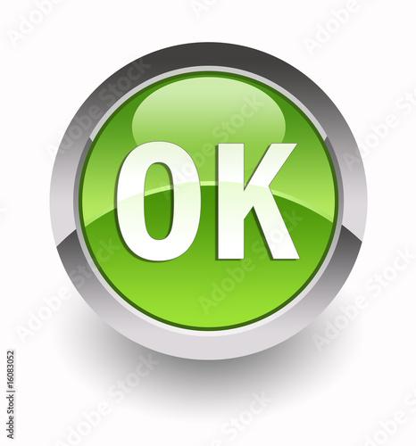 Fotografie, Obraz  ''OK'' glossy icon