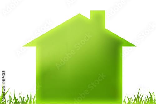 Photo  maison verte