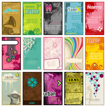 Collection Of Colorful Business Cards In Different Styles