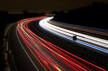 Light Trails On A Motorway At ...
