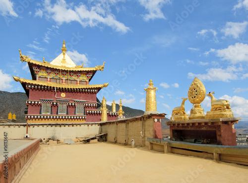 In de dag China songzanlin tibetan monastery, shangri-la, china