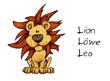 canvas print picture - Löwe, Lion, Leo, Sternzeichen