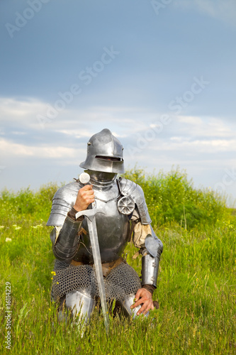 Canvas Prints Knights knight, after the battle