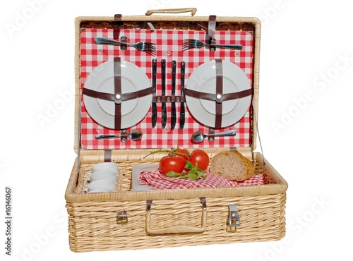 Keuken foto achterwand Picknick Picknickkorb