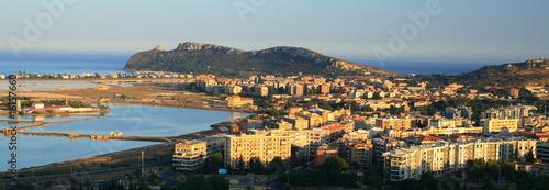 Cagliari veduta Sella del Diavolo e Poetto