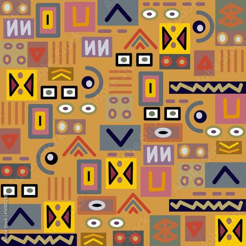 Ethnische Bunten Muster Afrika Kunst Musterkunst 9