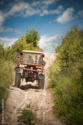 Stickers pour porte Pierre, Sable Tractor