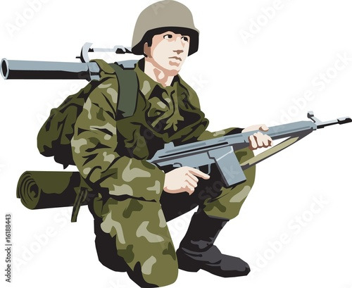 Poster Militaire soldier