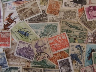 Fototapetaold stamps