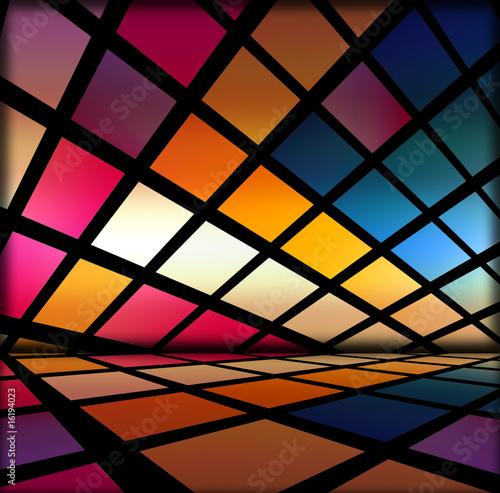 Naklejki abstrakcyjne futurystyczne-kwadraty