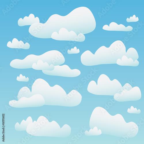 Papiers peints Ciel Fluffy Blue Clouds