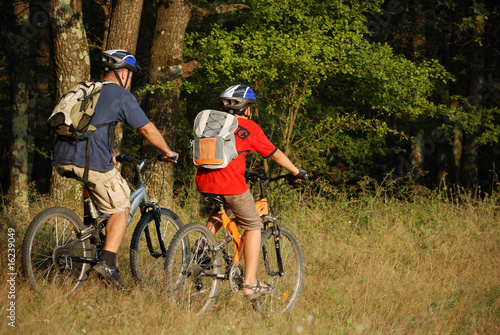 Photo Stands Cycling green environment conservation through generations