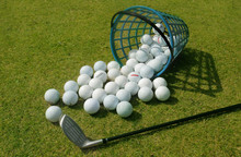 Basket Of Driving Range Golf B...
