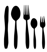 Spoon, Knife And Fork Vector I...