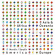 two hundred of fully editable vector world flags web buttons