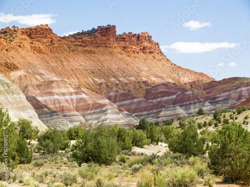 Pariah Valley Technicolor Cliffs, UT Tapéta, Fotótapéta