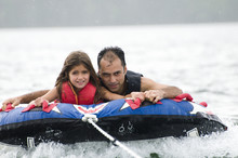Father And Daughter Tubing