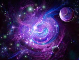 Blue-purple nebula