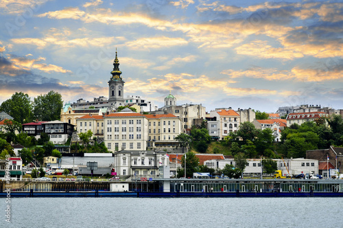 Belgrade cityscape on Danube Wallpaper Mural